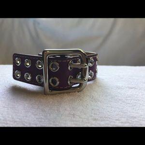 Coach Leather Bracelet w/ Silver Buckle